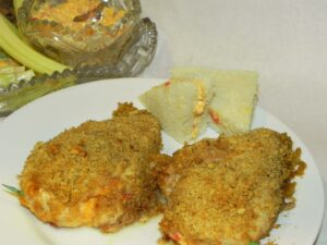 Pecan-Crusted Stuffed Chicken Breasts with Pimento Cheese Sandwich