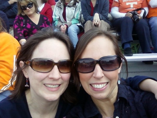 Missy Murphey and her sister at the Tennessee game. Photo courtesy of Missy Murphey