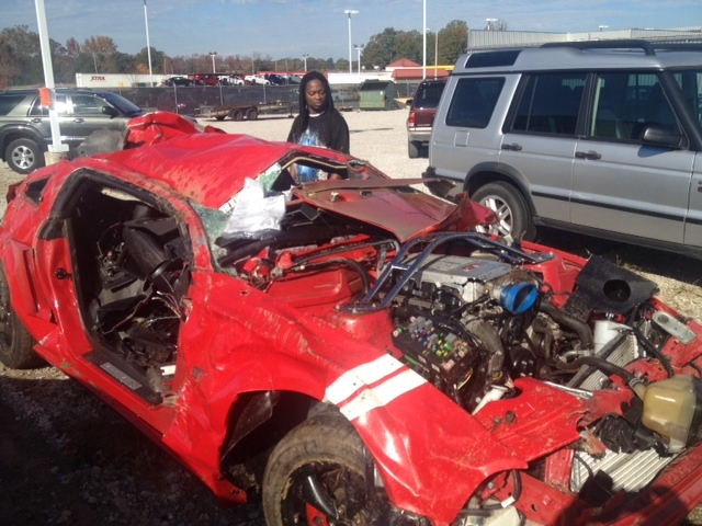 Kenneth Ivy, The Wrecker Driver Who Pulled Away The Ford Mustang In Which  Two Ole Miss Students Were Killed And Two Injured, Said The Severely  Damaged ...