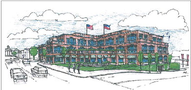 An Architectural Rendering Of The Chancellor S House Hotel