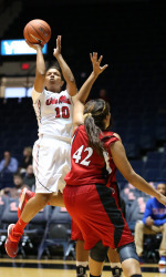 Diara Moore added 20 points in the Rebels win over Austin Peay to close non-conference action.