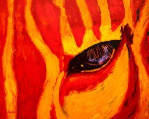 "Christine Chemin's painting, ""Maponos"""