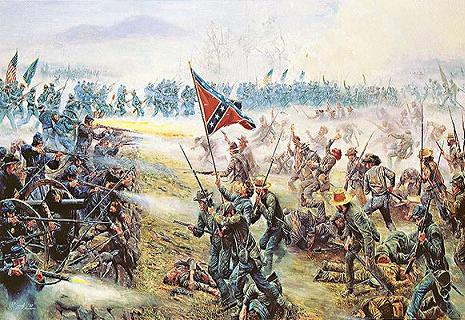 Pickett's CHarge at Gettysburg in 1863.