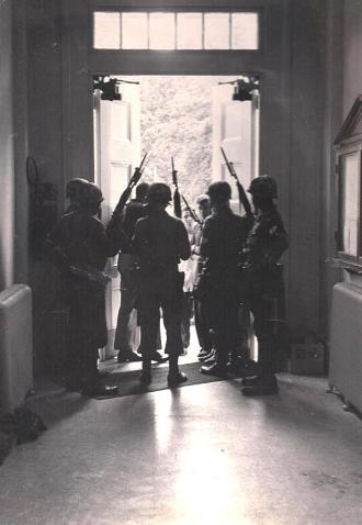 Federal Troops occupy the Lyceum in October of '62 - By (c) Ed Meek