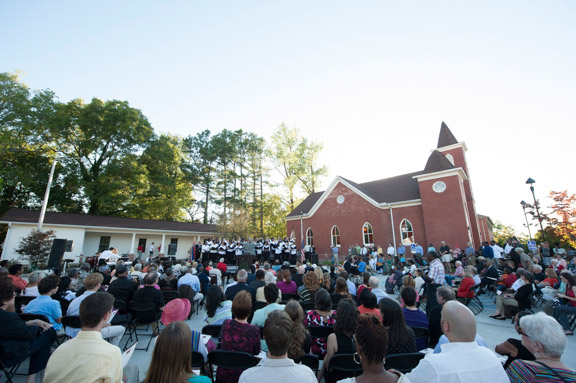 Hundreds attended the Dedication Ceremony of the renovated Burns-Belfry Museum and Multicultural Center on Sept. 21, 2013. /Photo courtesy of www.burns-belfry.com