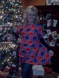 Lori and her Ole Miss custom hospital gown! Hotty Toddy, Lori!
