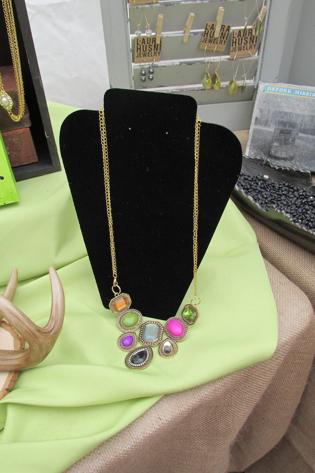 Jeweled necklace by Laura Husni Jewelry