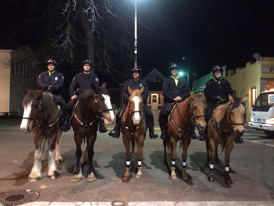 "Photo of the OPD Mounted Patrol courtesy of the ""Friends of the Mounted Patrol' Facebook page."