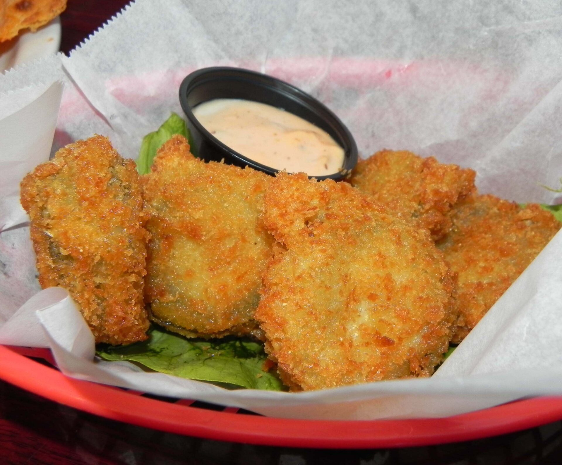 Twin Palms fried pickles.