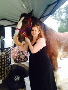 Kelly Whitten with Della of the Mounted Patrol