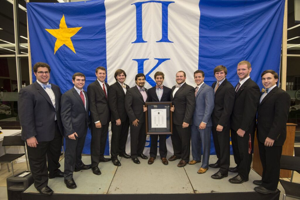Phillip Schmidt (center) with 11 founding men.  (photo credit: Phillip Waller)