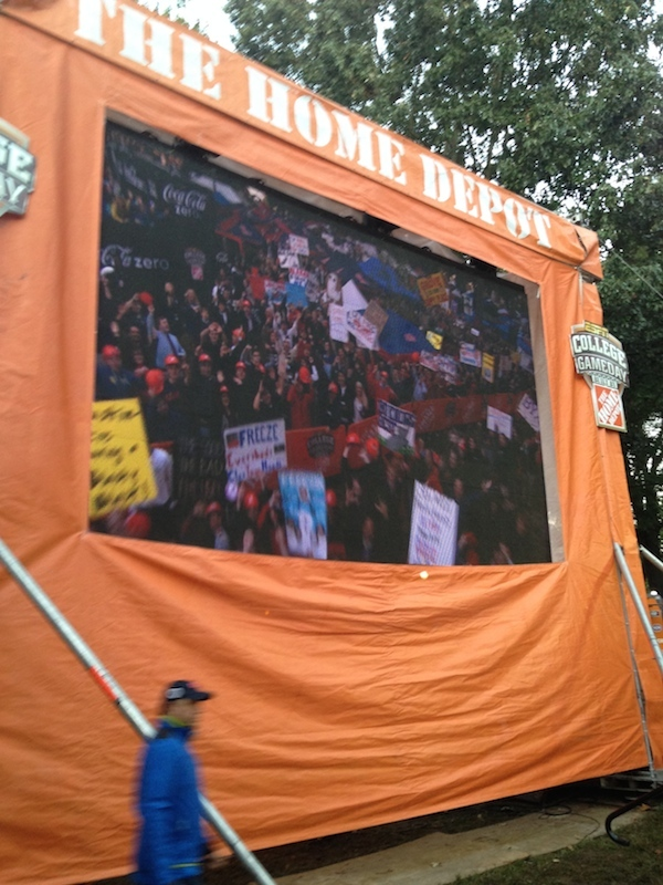 Videos of the Grove and all of the crowds across it were broadcast all over ESPN College GameDay