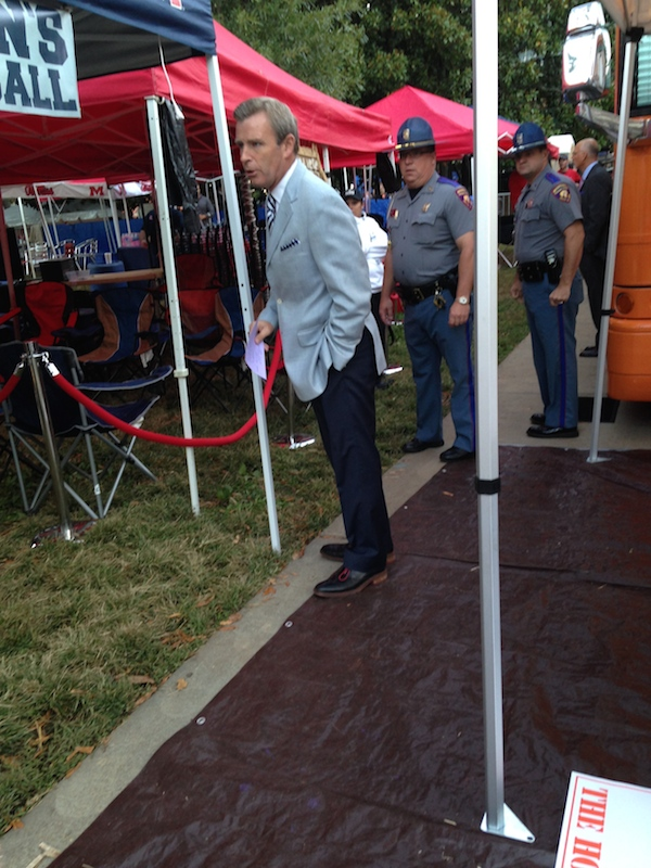 Tom Rinaldi with ESPN preparing for College GameDay to air