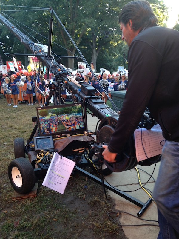 Behind-the-scenes cameraman at work shooting for College GameDay