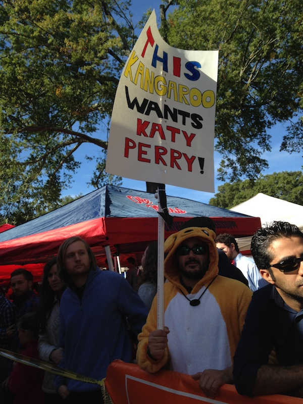 One fan shows his love and support for Katy Perry