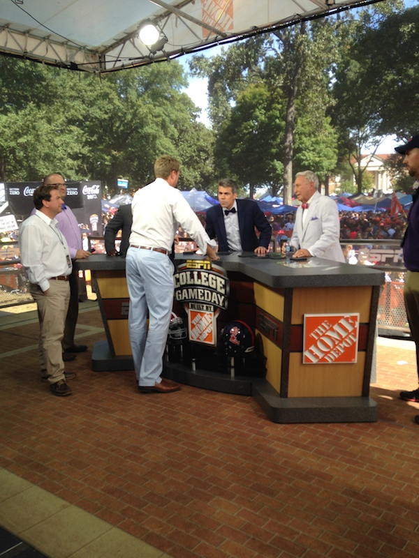More behind-the-scenes shots of College GameDay reporters