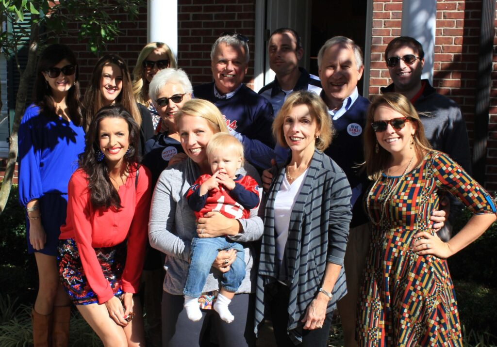 The Turner family and friends gather at the condo on Oct. 4th.