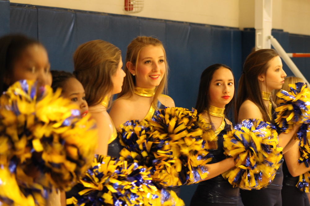 Oxford High cheerleaders and dancers entertained the crowd.