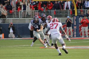 Bo Wallace made a number of impressive plays against Alabama to bring home a big win. / Photo by Amelia Camurati