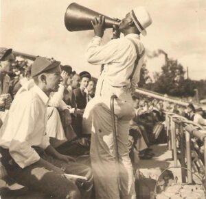 Blind Jim at Hemingway Stadium Photo by J. R Cofield