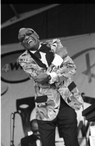 Photo of Ray Charles performing in New Orleans Photo by Dick Waterman