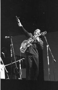 B.B. King in Newport, Rhode Island in 1968 Photo by Dick Waterman