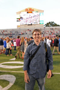 Phillip Waller on the field at Vaught- Hemingway stadium on Oct. 4, 2014 on the campus of the University of Mississippi. (Phillip Waller | The Ole Miss)