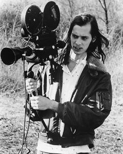 "(1972) Filmmaker John Waters on the set of ""PINK FLAMINGOS.""  From the documentary film ""Divine Trash."""
