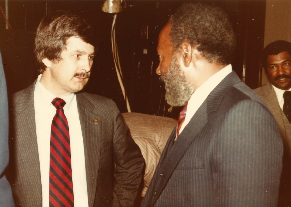 Photographer Ed Meek and James Meredith Photo by Milly Moorhead West