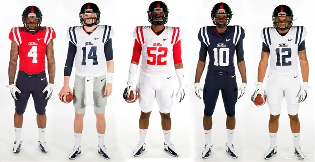 2015 Ole Miss uniforms, photo graphic from Saturday Down South