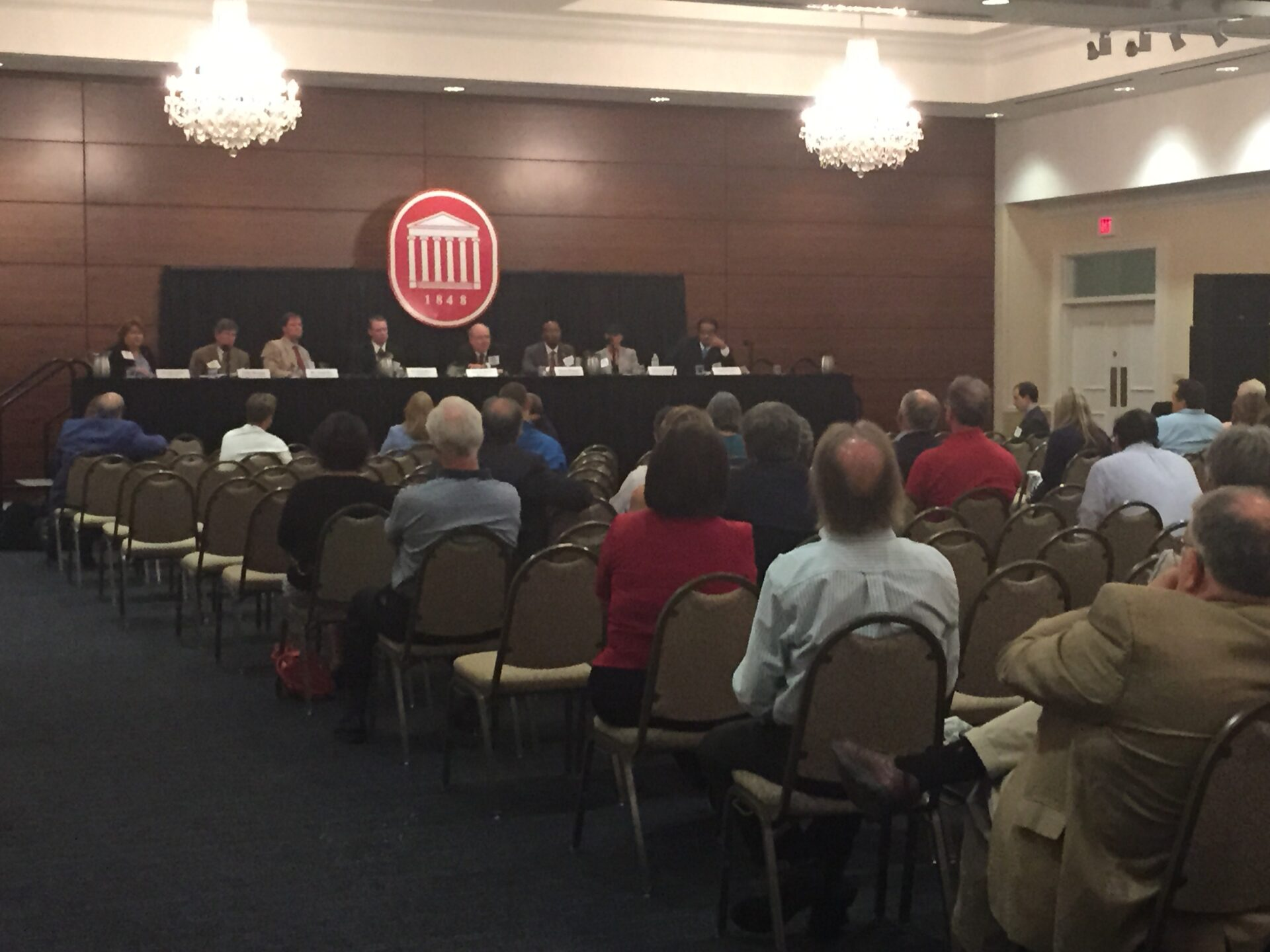 University of Mississippi faculty and staff members met with members of the Board Search Committee on Tuesday to discuss the qualities that they believe the next chancellor should possess. The Board held two Campus Listening Sessions for alumni, faculty and students.