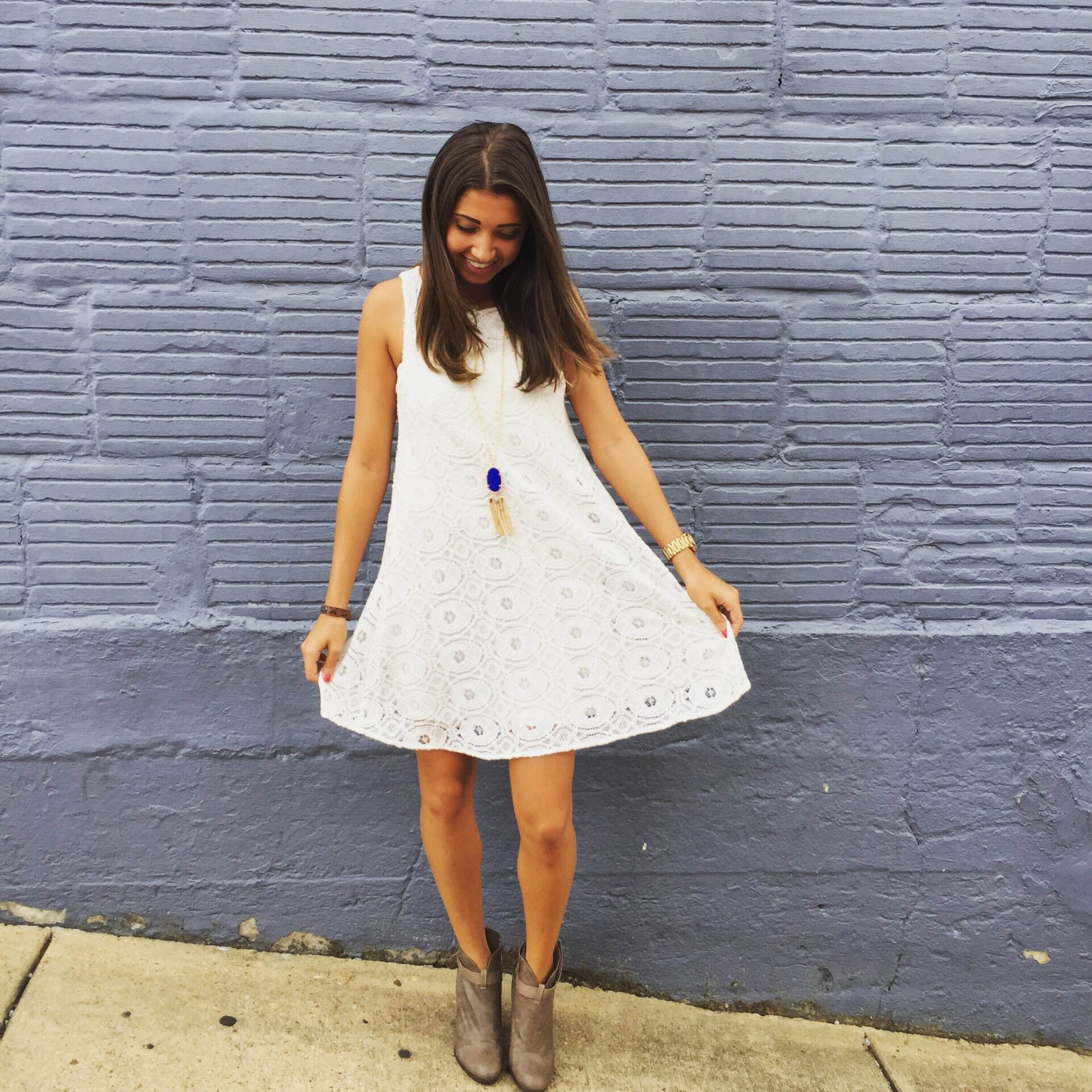 White game day dress.