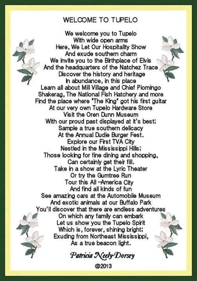 a  a Tupelo poem