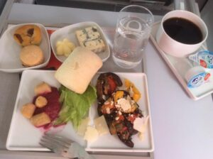 Air France knows how to serve food well.