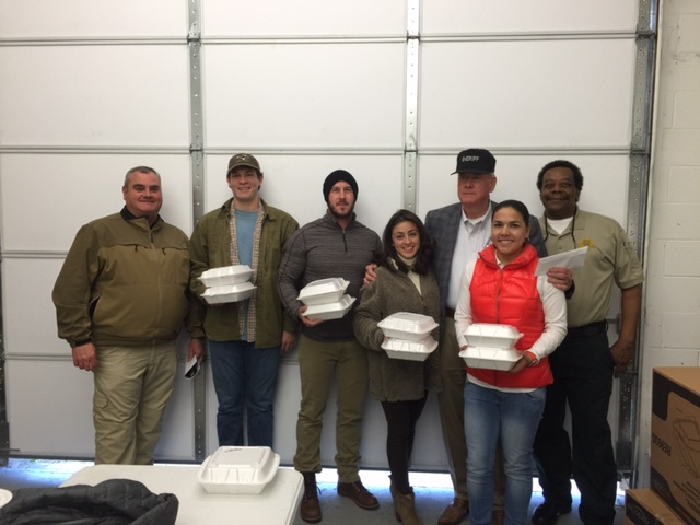 (left to right) Major Kelly McMillen, Dion Kevin III, Chris Bramlett, Ashley Wisch, Sheriff Kenny Dickerson, Maria Moya, Major Bobby Harris