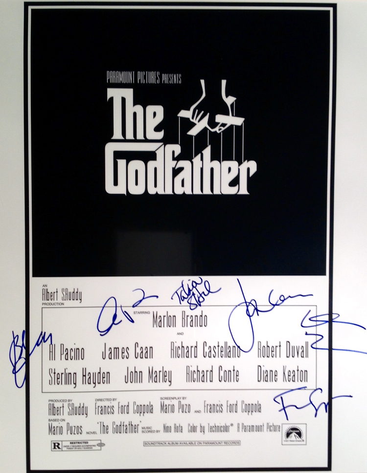 The Godfather Cast autographed - 16X20 Movie Poster