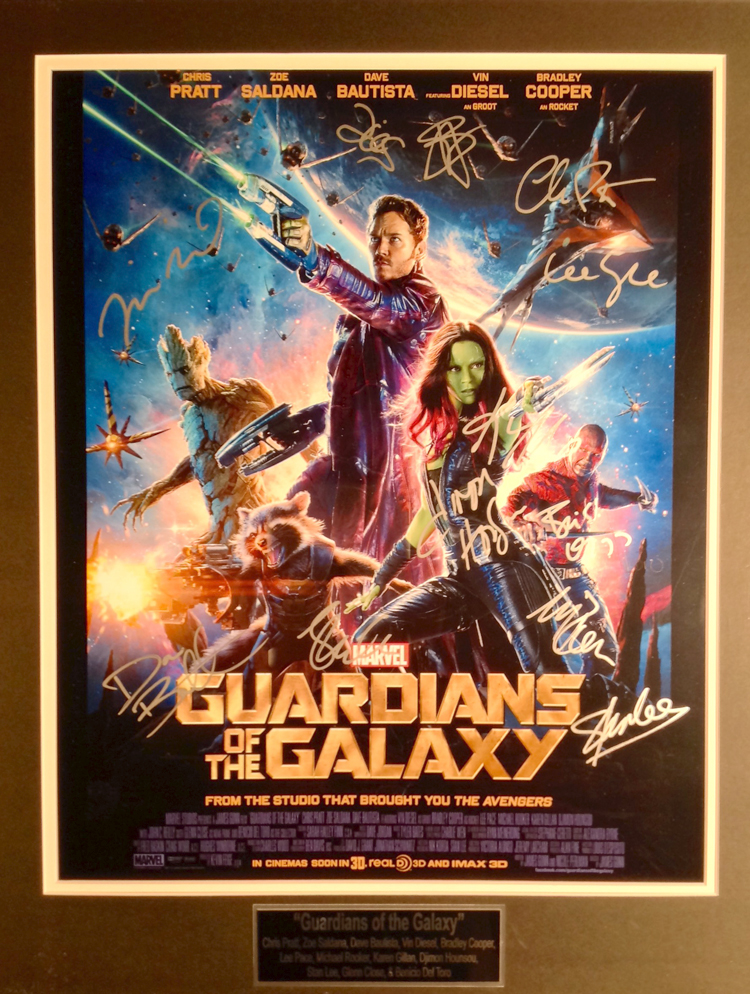 Guardians of the Galaxy Cast autographed - 16X20 Movie Poster
