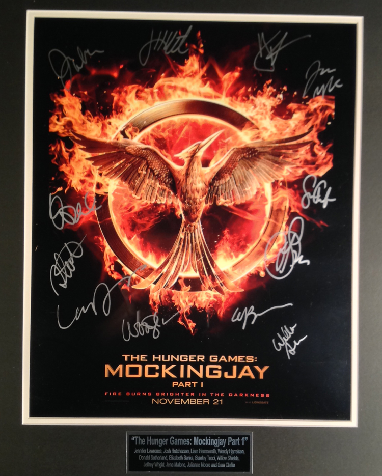 The Hunger Games Mockingjay Part 1 Cast autographed - 16X20 Movie Poster
