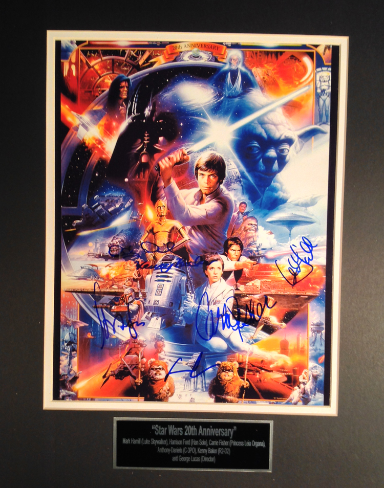 Star Wars Cast 20th Anniversary autographed - 16X20 Movie Poster
