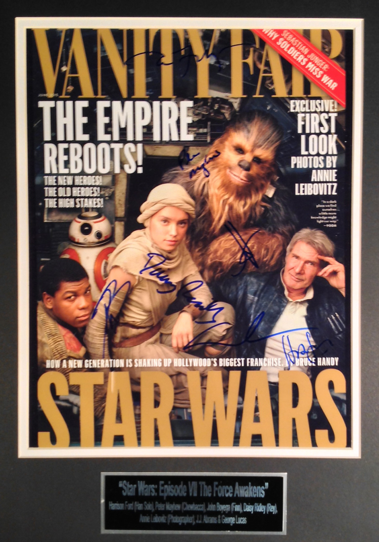 Variety Fair autographed cover featuring Star Wars, The Force Awakens cast