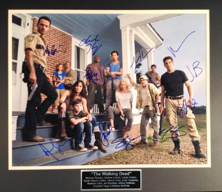 The Walking Dead cast photo autographed