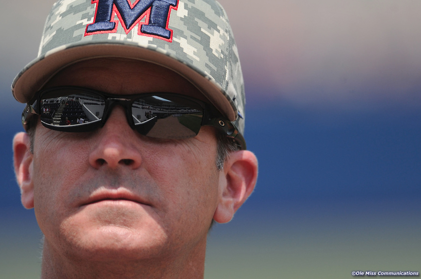 Coach Mike Bianco Photo courtesy of Ole Miss Communications/Kevin Bain