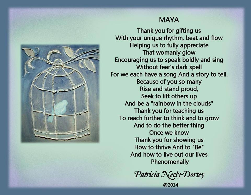 "an analysis of the maya angelou poem to a man essay Free essay: every person have born, grow, do activities, married, have a child,  become old  maya angelo through her poem entitle ""when i think about myself "" has shared the  essay on i know why the caged bird sings by maya angelou."