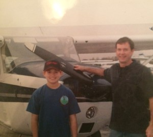 Young David Flynn has been into aviation, thanks to his family in Lexington, Kentucky.