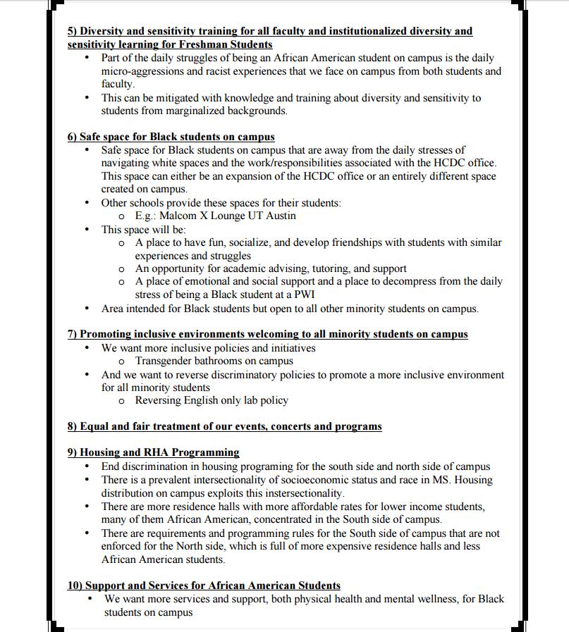 list of demands2