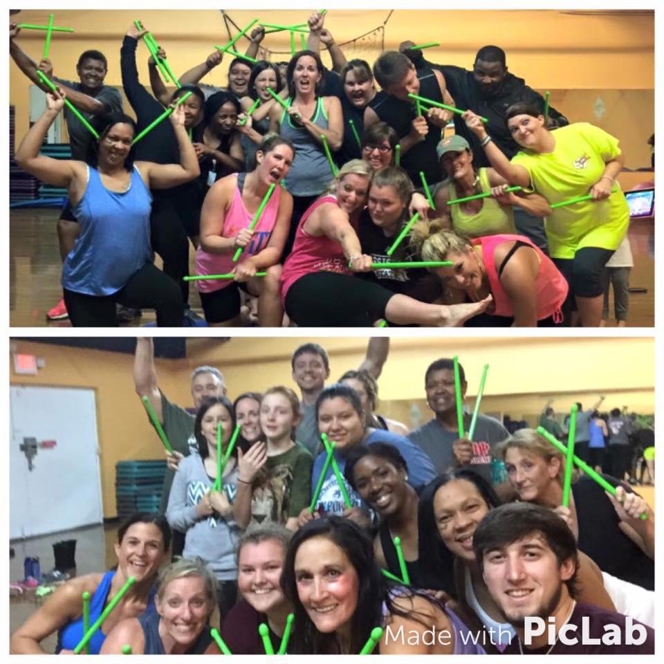 "The ""Pound"" exercise class celebrates success at the wellness center."