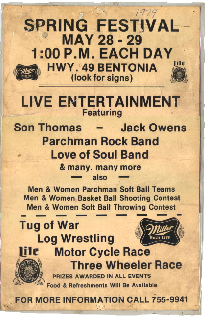 First Annual Promo Poster for the Bentonia Blues Festival, 1973