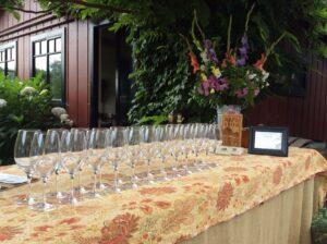 Tres Sabores tasting setup