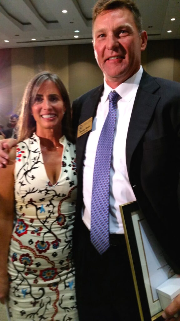 Christy and Wesley Walls at the Mississippi Sports Hall of Fame Induction on Saturday night in Jackson.