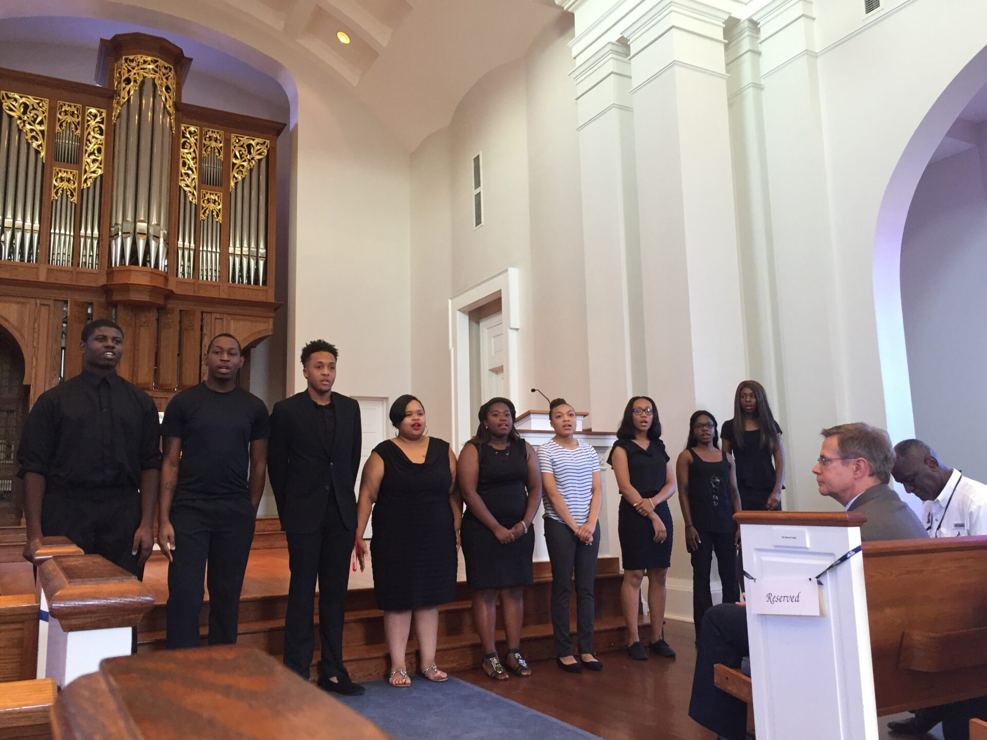 """The Ole Miss Gospel Choir belts powerful song about children """"coming on board."""""""